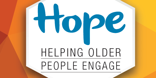 HOPE logo: Helping Older People Engage